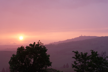 Sunset over Pienza, Tuscany, Italy, May 2018